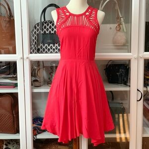 Beautiful A Line Dress With Cage Detail